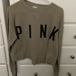 PINK Victoria Secret cropped long sleeve